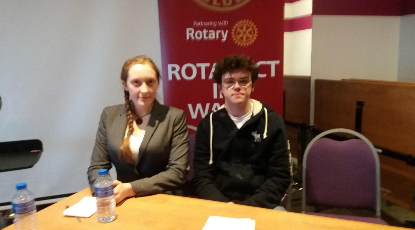 Rotary Young Interviewer, Seren Reddy-Jones